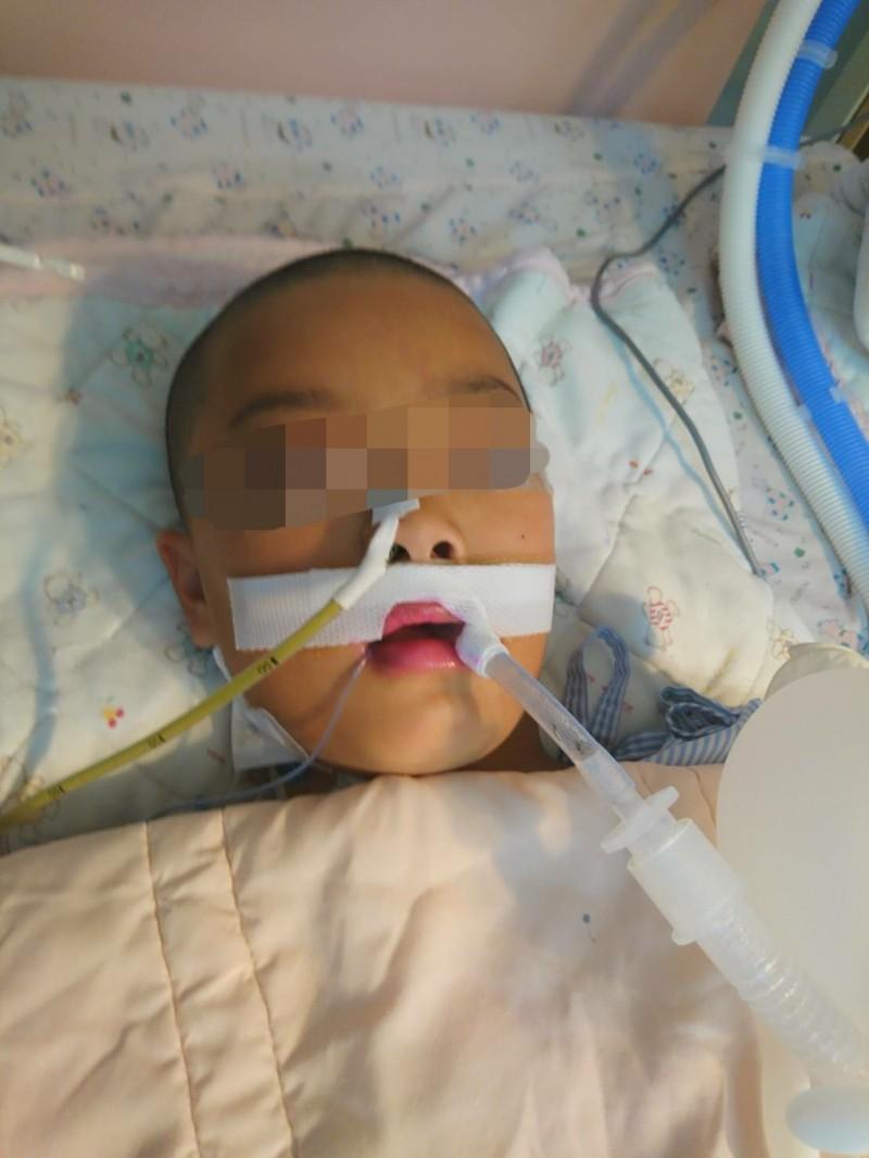 沈姓女童至今在醫院加護病房昏迷近30天。(家屬提供)