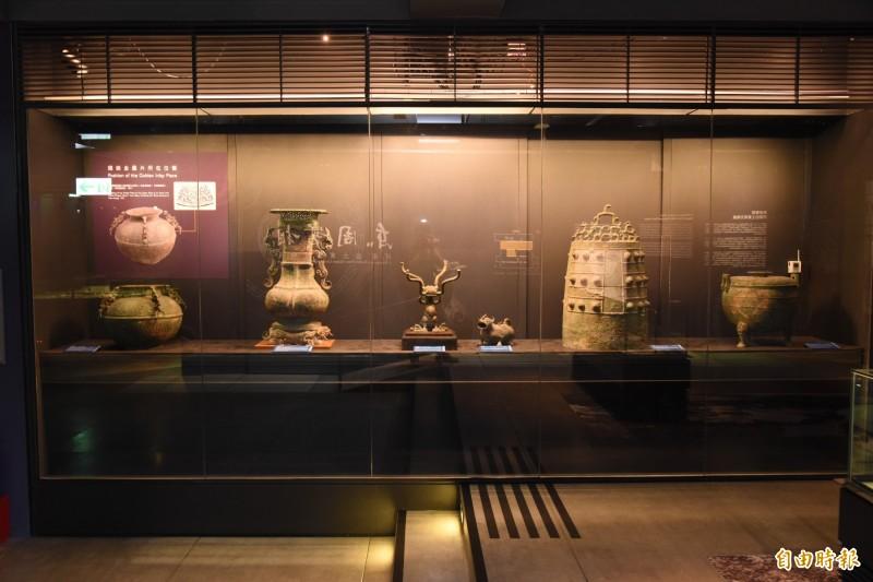 中研院和國立歷史博物館共同舉辦東周古文物展。(記者吳亮儀攝)