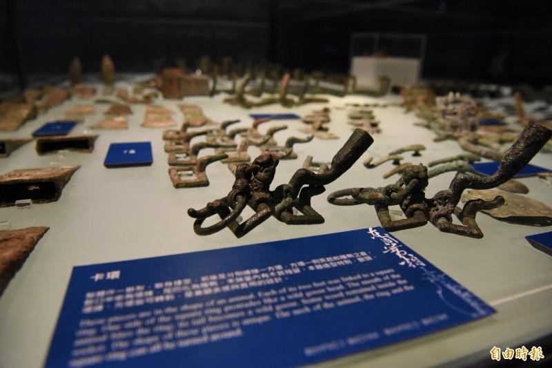 展品還包括許多小器物。(記者吳亮儀攝)