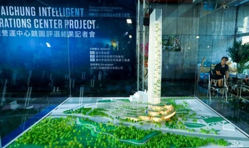 水湳智慧營運中心建築模型。(資料照)