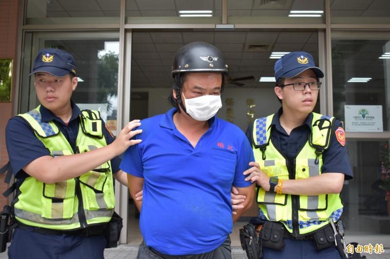 紀男被捕後宣稱,他沒有傷人之意,只想威嚇警察離開,他不想離婚。(記者張瑞楨攝)