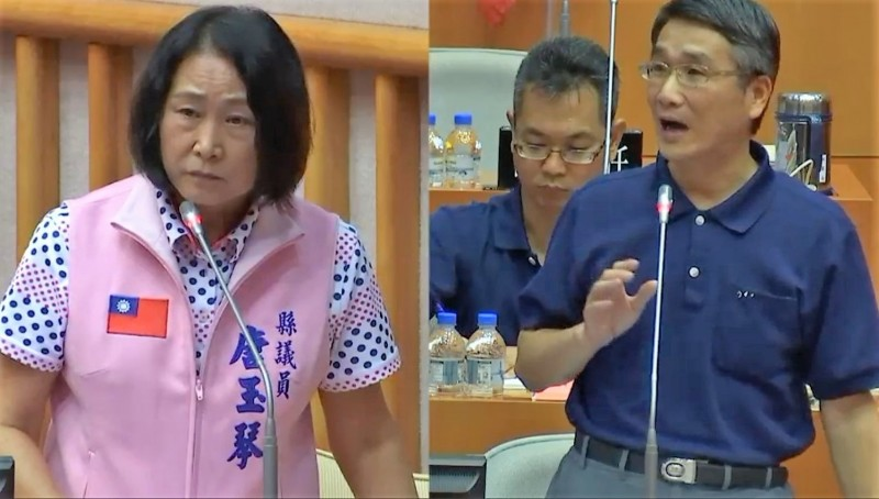 針對甜酒釀遭取締案,屏東縣財稅局長程俊(右)允諾罰款可減輕二分之一。(記者侯承旭翻攝)
