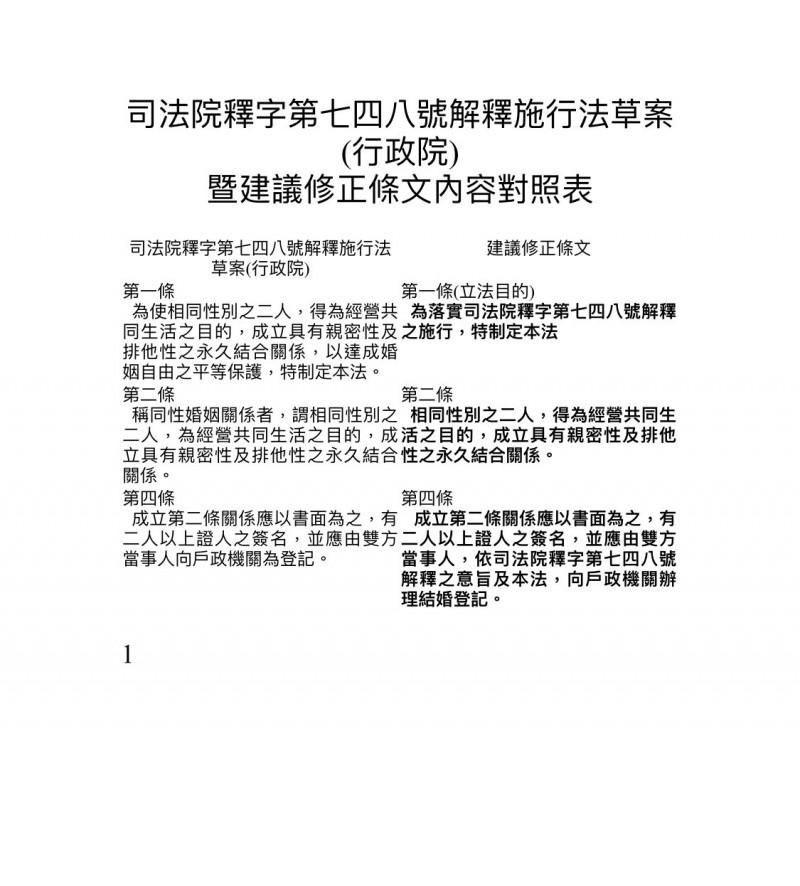 立法院民進黨團建議修正條文。(讀者提供)