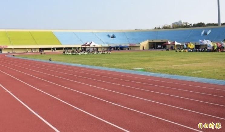 彰化縣體育場是符合認證的田徑場。(資料照)