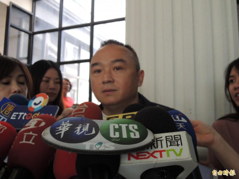 潘恒旭今表示,很歡迎王浩宇來高雄旅遊。(記者王榮祥攝)