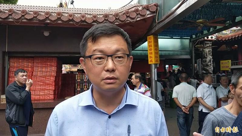 賴清德陣營發言人李退之,強調對於初選協調結果並非反悔。(記者劉濱銓攝)