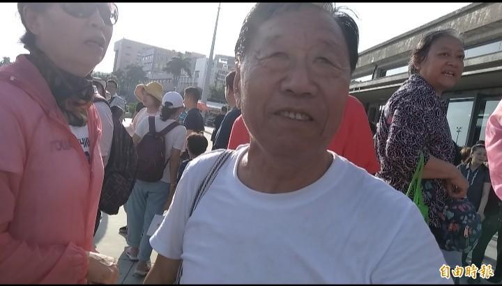 中國客見證台灣民主。(記者洪定宏攝)