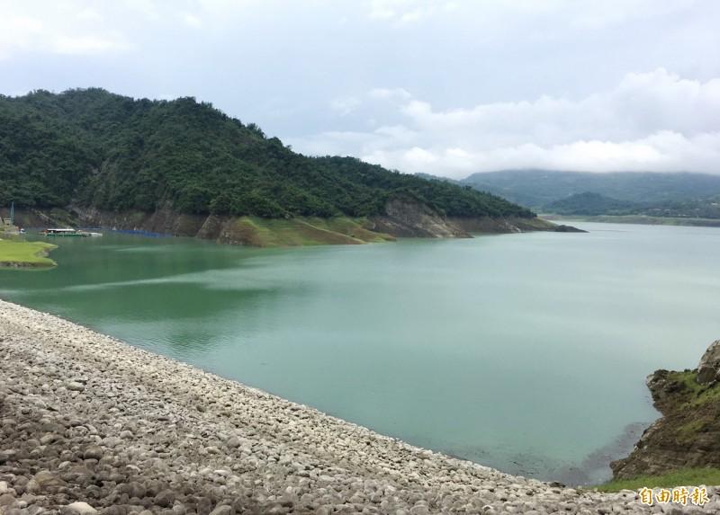 曾文水庫集水區單日降雨200毫米,水情大進補。(記者吳俊鋒攝)
