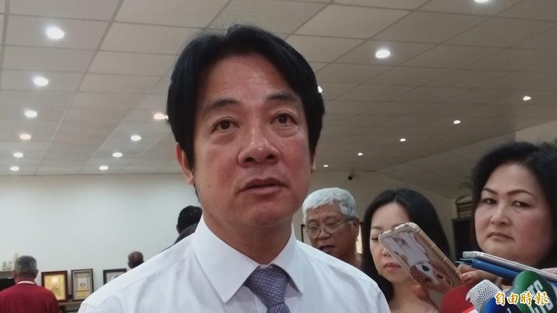 前行政院長賴清德今天在新竹縣重申,無論是黨內人士還是總統,都不曾詢問他是否選總統。 (記者廖雪茹攝)