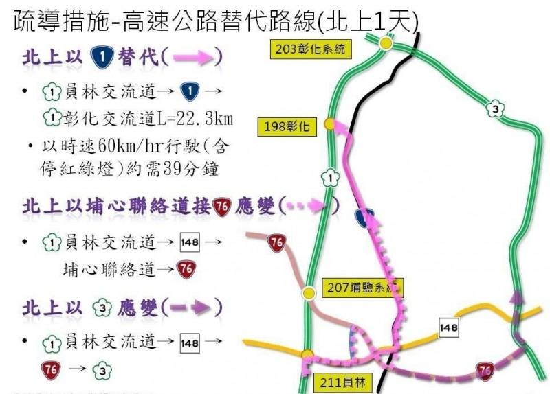 2019年漢光演習即將在彰化戰備道登場,鹿港警分局在各臉書社群貼出交通輸導對策。(鹿港警分局提供)