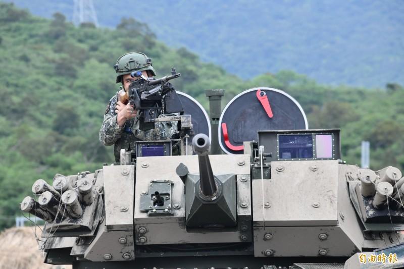 「30公厘機砲型雲豹甲車」漢光首亮相。(記者蔡宗憲攝)