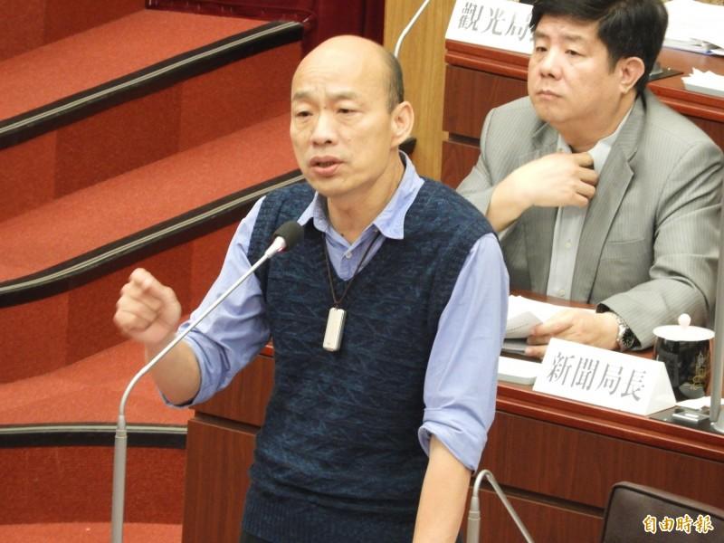 韓國瑜心裡已有市長補選人選,他回答有一些人選,但不成熟。(記者葛祐豪攝)