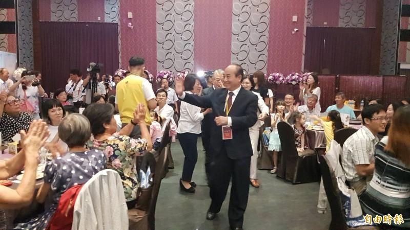 前立法院長王金平以師大校友總會榮譽理事長身分出席雲嘉餐會活動。(記者丁偉杰攝)