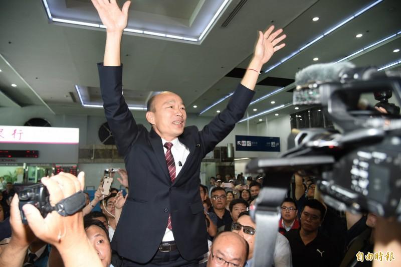 高市府曾向警、媒控訴2網友嗆殺韓國瑜父女,查出是中國網軍,韓全不告了。(資料照)