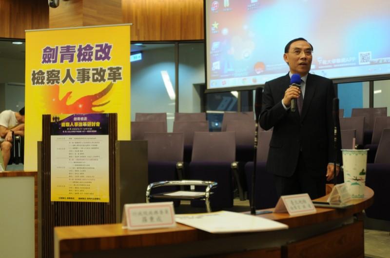 法務部長蔡清祥承諾成立人事改革委員會。(記者吳政峰翻攝)