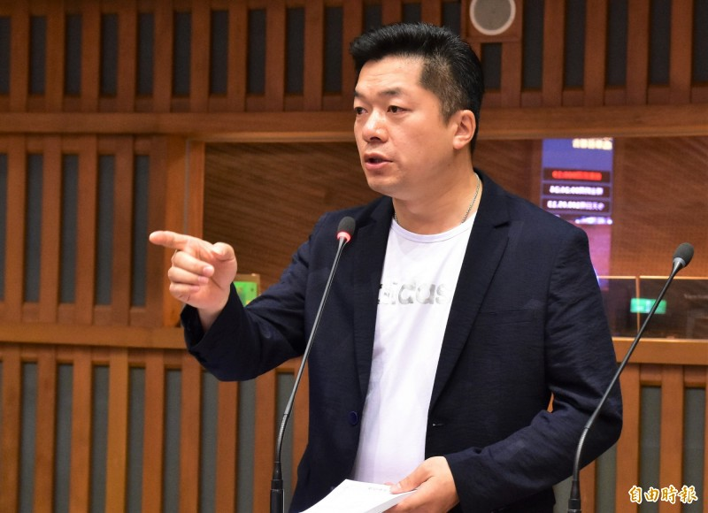 民進黨宜蘭縣議員陳俊宇。(記者張議晨攝)