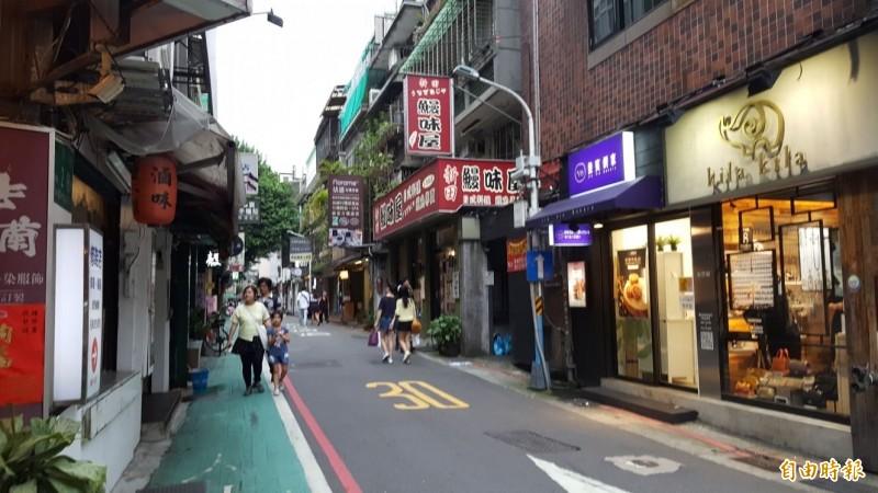 永康商圈內有不少巷子,業者有開店需求。(記者楊心慧攝)
