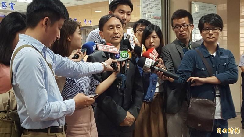 吳子嘉驚爆,韓國瑜昨晚面臨李佳芬拷打。(記者溫于德攝)