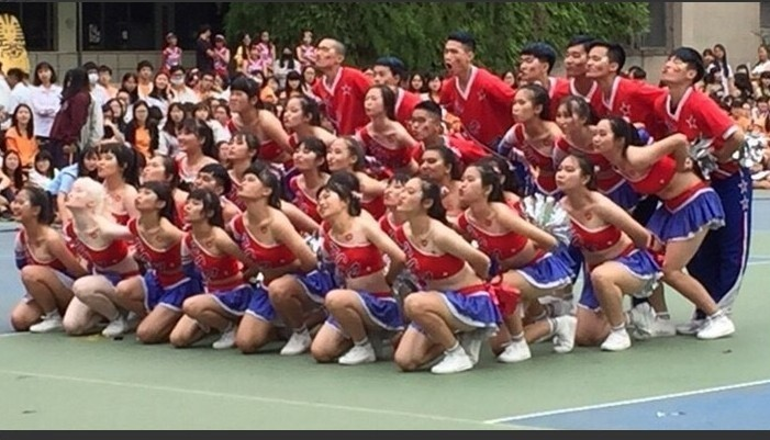 蔡雨辰參加啦啦舞競賽,努力撕去特殊生標籤。(蔡雨辰提供)