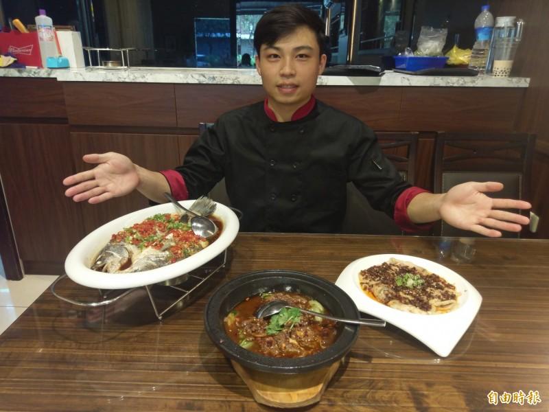張林嘉是瀟湘園第二代,返嘉開湘菜館。(記者王善嬿攝)