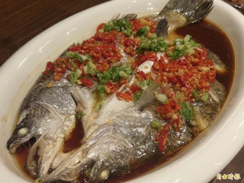 剁椒魚是湘菜代表菜色(記者王善嬿攝)