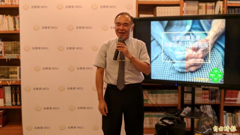矯正署長黃俊棠表示,我國的高齡收容人達1531人。(記者吳政峰攝)