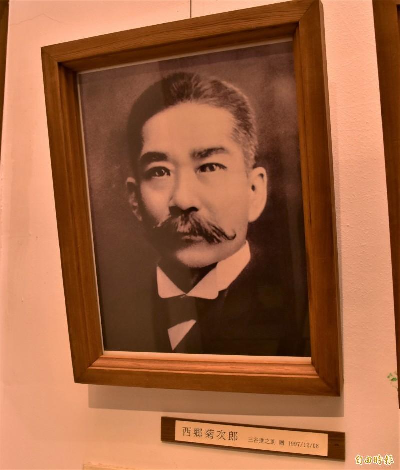 西鄉菊次郎為宜蘭廳首任廳長。(記者張議晨攝)