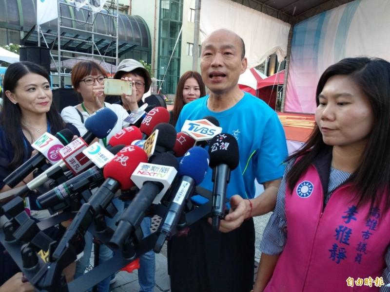 拋出國道6號交通支票遭打臉,韓國瑜受訪表示是當地政治菁英及意見領袖的心聲。(記者方志賢攝)