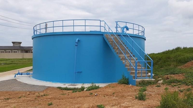 水公司興建二座配水池,提升離島穩定供水。(記者陳文嬋翻攝)