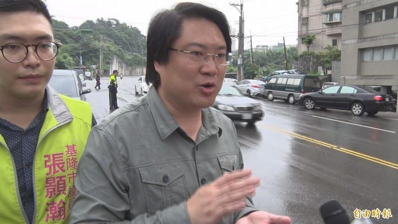 基隆市長林右昌表示,一國兩制是沒有市場,百萬港人上街頭就是最好證明。(記者俞肇福攝)