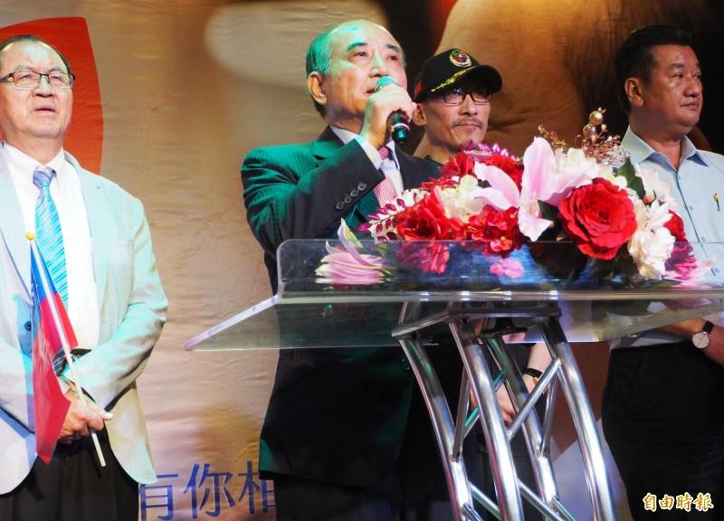 王金平說他的參選是促進團結,且也有能力整合各方。(記者陳鳳麗攝)