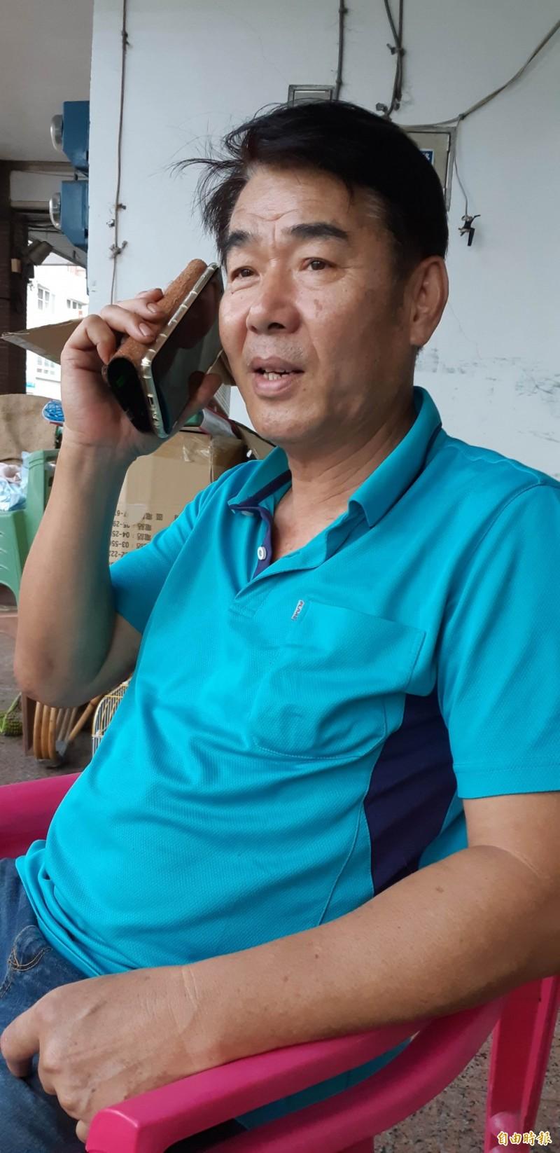台東縣議員林參天憂心蘭嶼成為跨國運毒中繼站。(記者黃明堂攝)