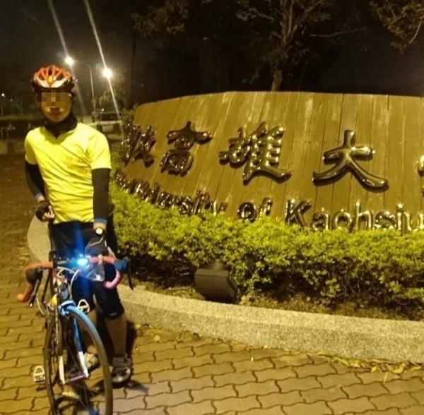 涉嫌與13歲女學生上賓館的蕭姓男志工,參加過1日單車北高行。(記者姚岳宏翻攝)