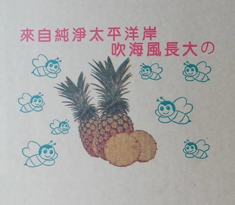 成功鎮「八嗡嗡鳳梨」品牌十分可愛。(記者張存薇翻攝)