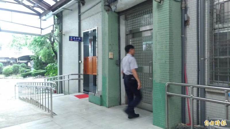 雲林地院羈押室前傳出有人犯脫逃未遂。(記者廖淑玲攝)