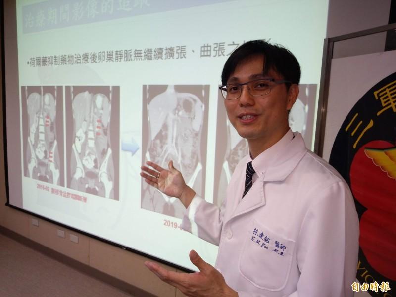 林建銘提醒,家長應多注意小孩子的發育過程,而女性腹痛多時也該就醫檢查。(記者吳亮儀攝)