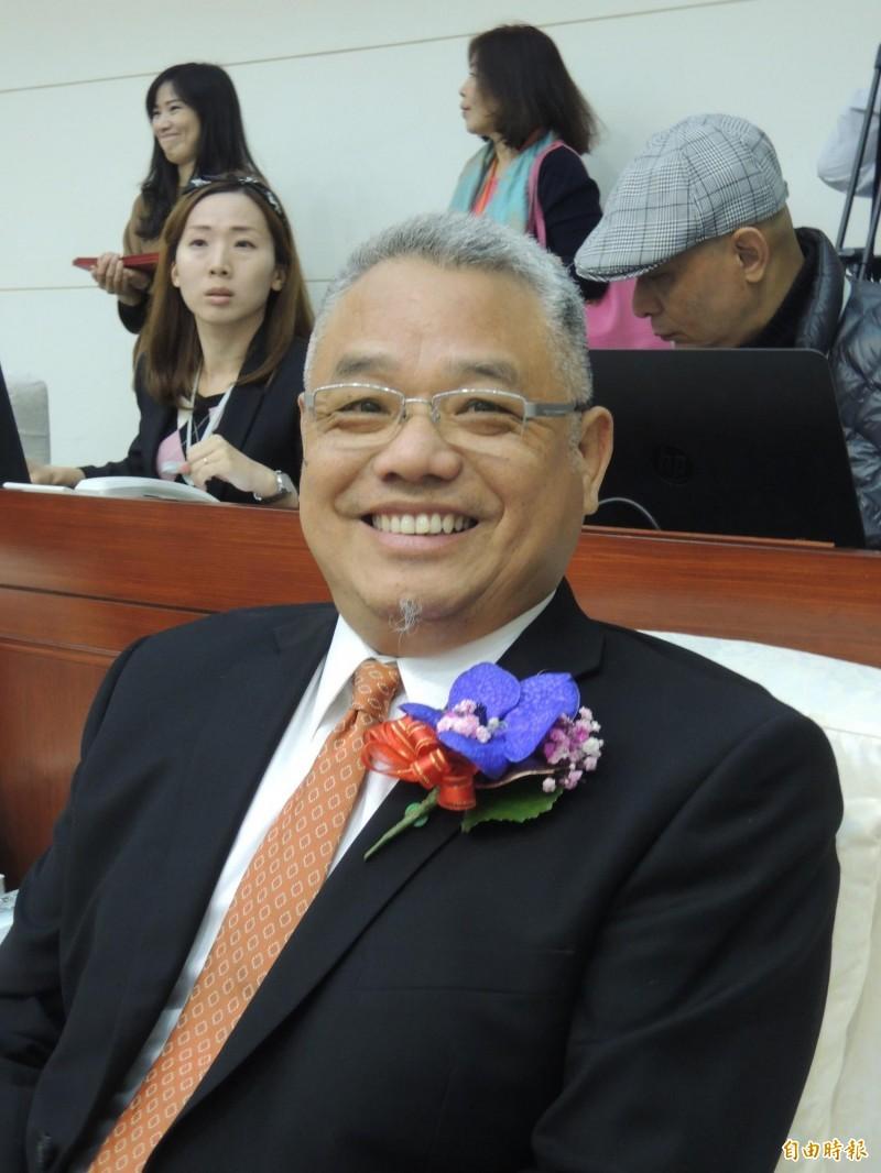 新竹市議員林耕仁是國民黨新竹市黨部進行立委選舉徵召民調的人選之一。(記者洪美秀攝)