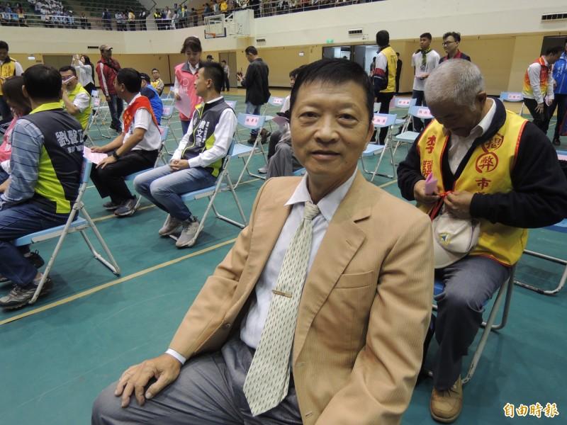 國民黨新竹市終身黨員黃源甫也會參與立委選舉的徵召民調人選之一。(記者洪美秀攝)