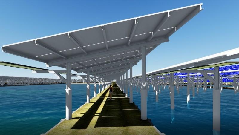 漁電共生3D模擬概念圖(圖:台鹽綠能提供)