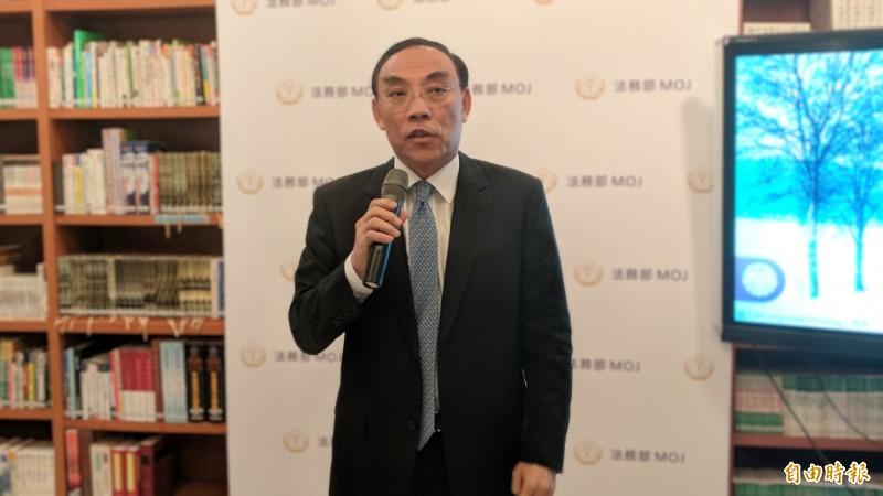 法務部長蔡清祥澄清偵查不公開修正案並無外傳的「東廠」。(記者吳政峰攝)