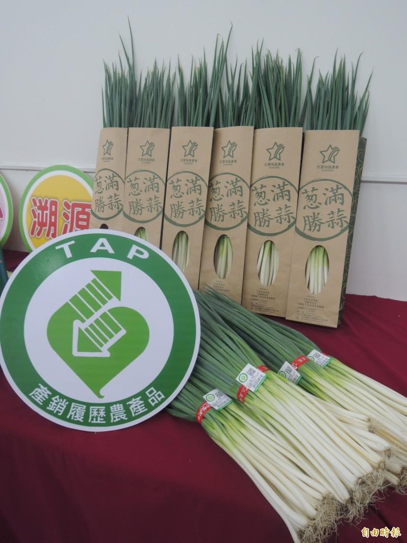 三星蔥已有86個農戶51公頃加入產銷履歷驗證,占生產面積的20%。(記者江志雄攝)