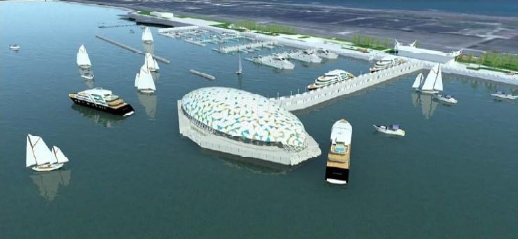 這「蛋」能防17級風!大鵬灣畔「孵」小巨蛋預計年底啟用