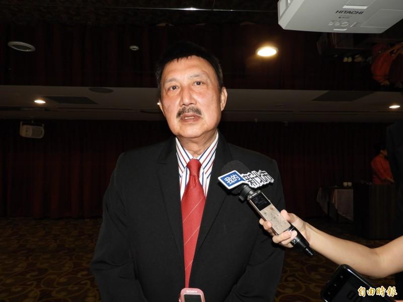 立委余天稱讚新北市長侯友宜上任以來表現很好。(記者賴筱桐攝)