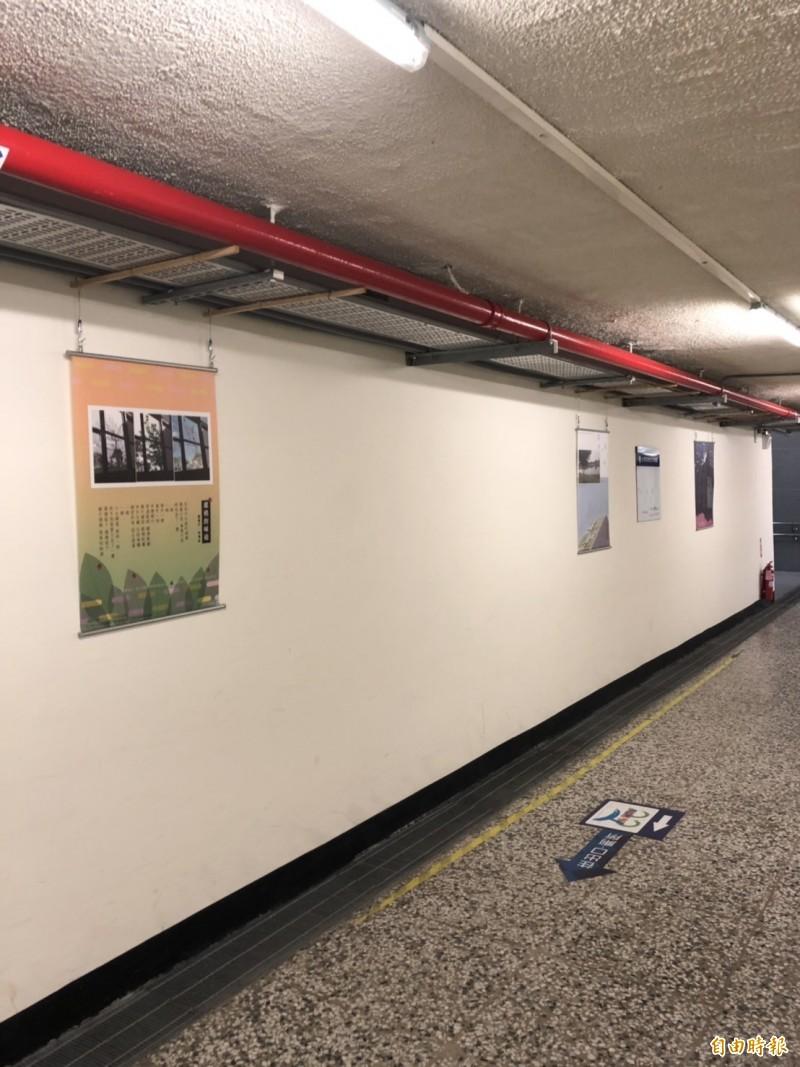 台鐵台東站地下道變身成藝文長廊。(記者王秀亭攝)
