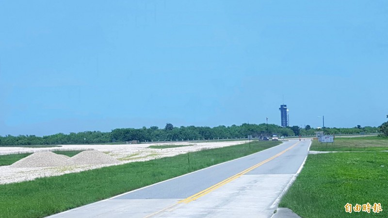 美國NASA甘迺迪太空中心LC 39A 發射基地。(記者簡惠茹攝)