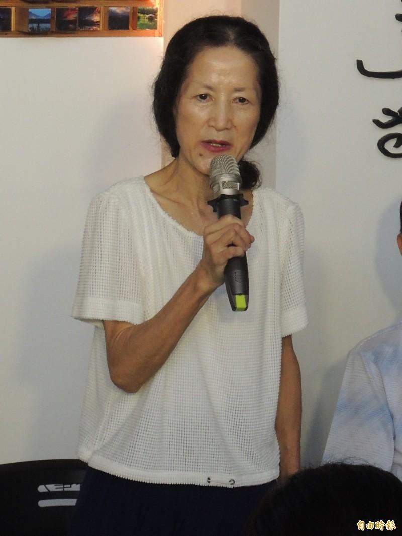 陳定南遺孀張昭義表態力挺蔡英文連任。(記者江志雄攝)