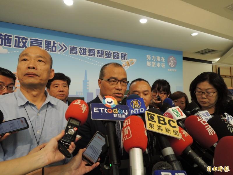 高市副市長葉匡時公布烏龍小三通調查結果。(記者王榮祥攝)