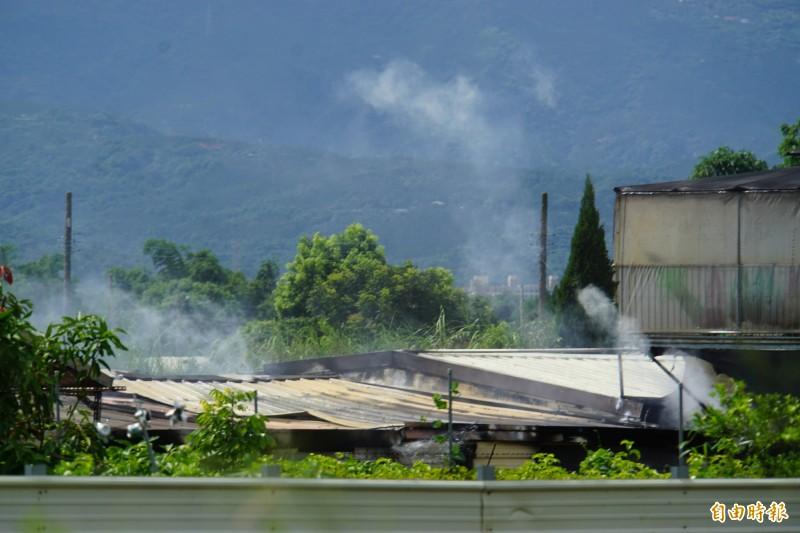 斗六市頂柴路早上發生民宅火警 ,幸無人員傷亡。(記者詹士弘攝)