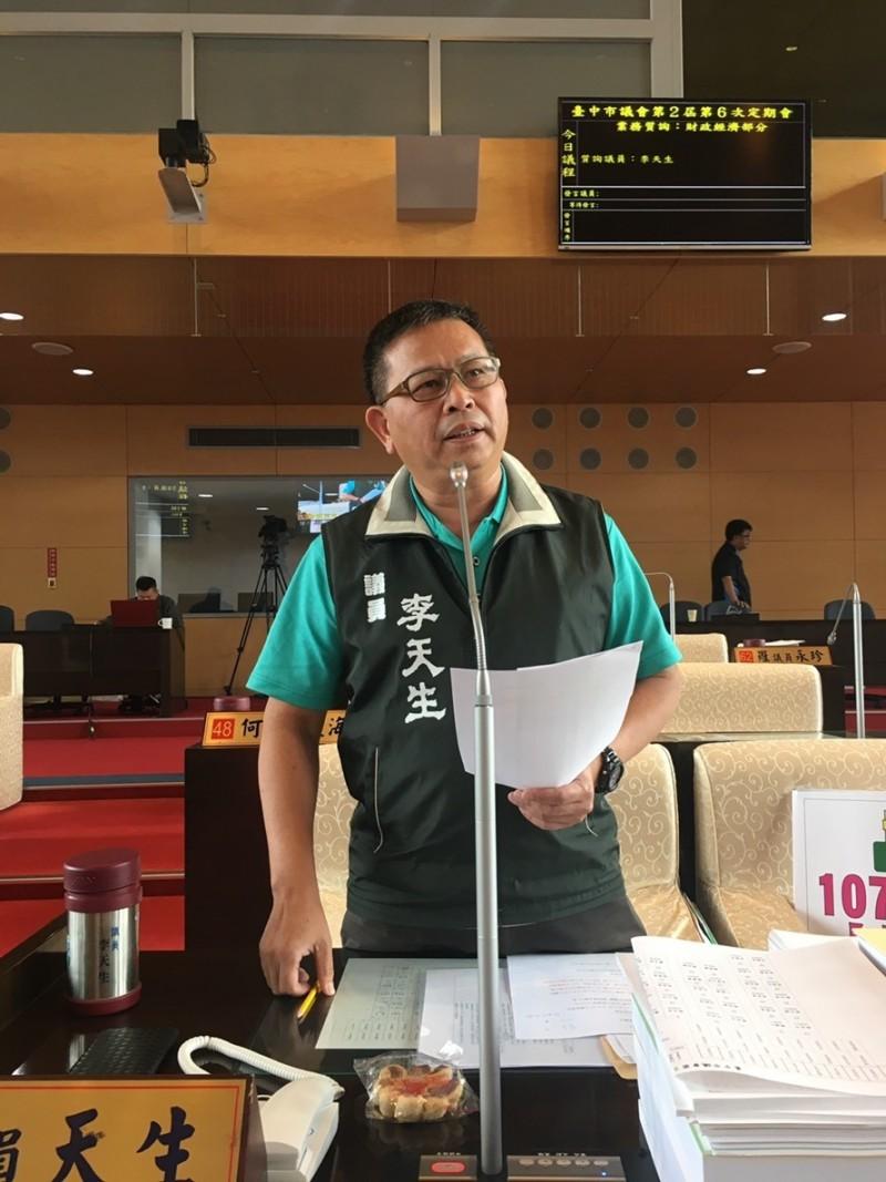 台中市議員李天生遷戶籍到霧峰,傳要待中央徵召參選立委第二選區,對此李天生否認。(記者蘇金鳳翻攝)