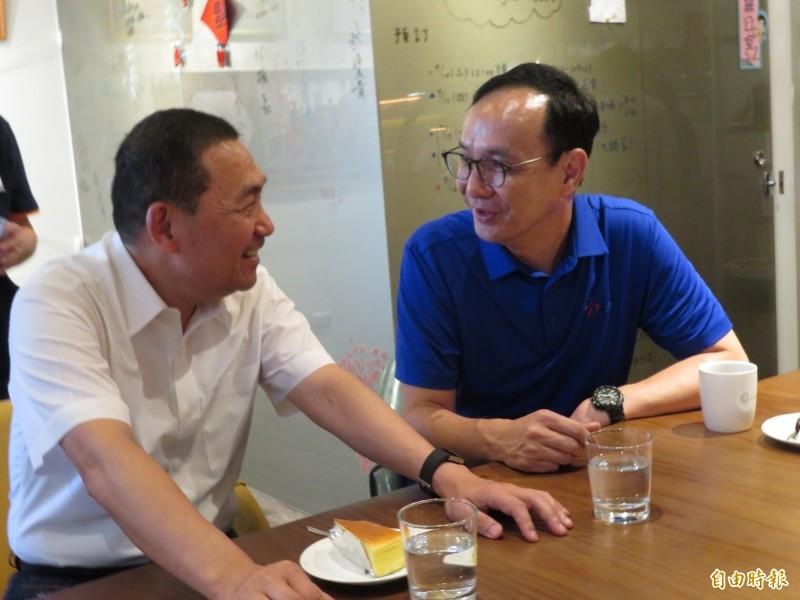 新北市長侯友宜說,他與朱立倫都是用理性、中道的態度做事。(記者何玉華攝)